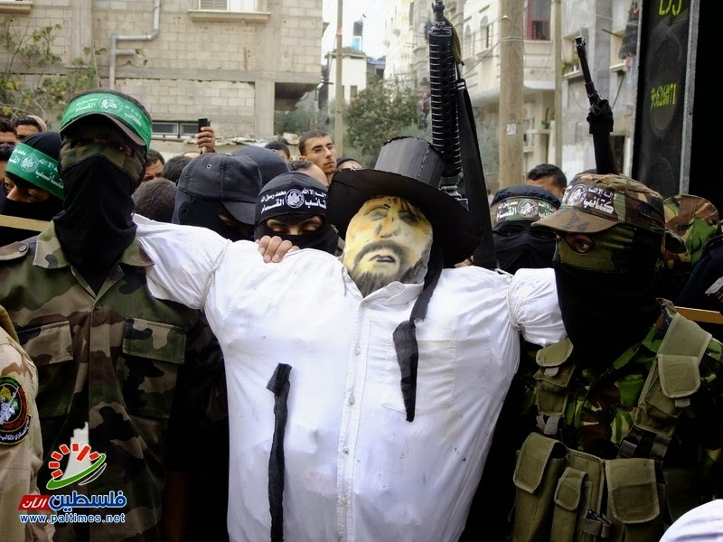 Hamas' effigy of a rabbinic Jew for burning