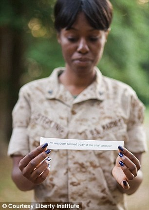 Lance Corporal Sterling and her text