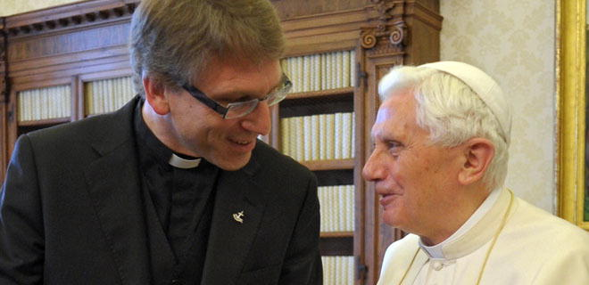 WCC head and Benedict XVI